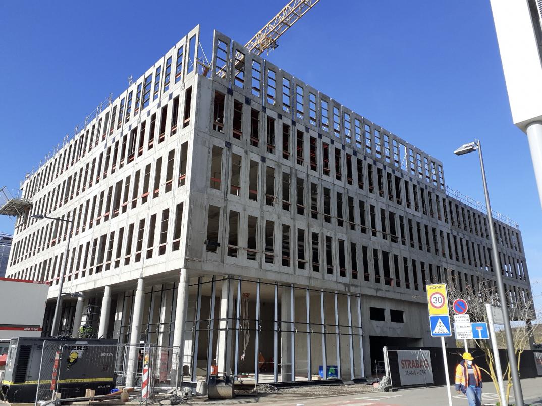 Construction d'un bâtiment de bureaux « Lot 27E Square Mile » à Belval :